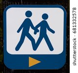 man and woman crossing the road ... | Shutterstock . vector #681332578
