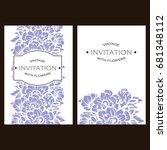 vintage delicate invitation... | Shutterstock . vector #681348112