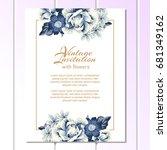 romantic invitation. wedding ... | Shutterstock . vector #681349162