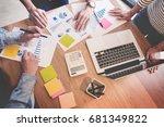creative team job. young...   Shutterstock . vector #681349822