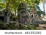 ta prohm temple an iconic... | Shutterstock . vector #681352282