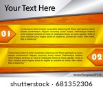 template orange  yellow and... | Shutterstock .eps vector #681352306