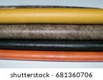synthetic leather leatherette | Shutterstock . vector #681360706