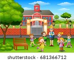 vector illustration of happy... | Shutterstock .eps vector #681366712
