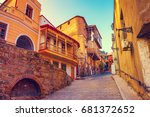 old quarter in tbilisi city ... | Shutterstock . vector #681372652