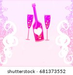 invitation to birthday cocktail ... | Shutterstock . vector #681373552