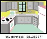 vector kitchen simple design... | Shutterstock .eps vector #68138137