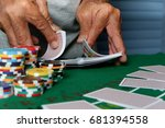 casinos have chips  dice  chips ... | Shutterstock . vector #681394558