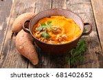 sweet potato mashed | Shutterstock . vector #681402652