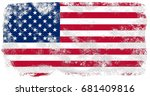united states of america flag... | Shutterstock . vector #681409816