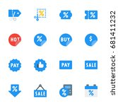 miscellaneous e commerce icon... | Shutterstock .eps vector #681411232