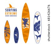 surfboard graphic design with...   Shutterstock .eps vector #681426676
