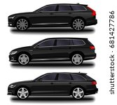 realistic car. station wagon.... | Shutterstock .eps vector #681427786