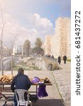 Bread Seller In Jerusalem