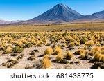 volc n licancabur    atacama...   Shutterstock . vector #681438775