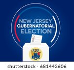 new jersey gubernatorial... | Shutterstock .eps vector #681442606