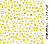 emoji seamless pattern on a... | Shutterstock .eps vector #681452935