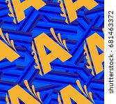 letters  pattern. background...   Shutterstock .eps vector #681463372