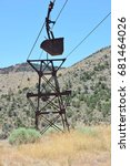 Small photo of Old Aerial tramway used for the transportation of Silver Ore and Nickel Ore from Pioche in Nevada to the Godbe Mill..