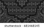 seamless traditional indian... | Shutterstock . vector #681468145