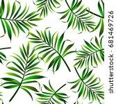 seamless topical vector pattern ... | Shutterstock .eps vector #681469726