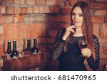 elegant beauty lady long hair...   Shutterstock . vector #681470965