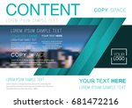 presentation layout design... | Shutterstock .eps vector #681472216