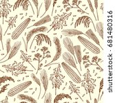 seamless pattern of organic... | Shutterstock .eps vector #681480316