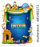 illustration of india... | Shutterstock .eps vector #681485272