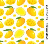 vector seamless pattern with... | Shutterstock .eps vector #681488545