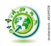 green earth with butterflies... | Shutterstock .eps vector #68149528