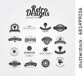 inspiring awesome retro label... | Shutterstock .eps vector #681499036