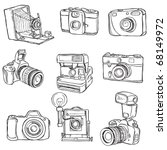 set of photo cameras | Shutterstock .eps vector #68149972