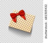 illustration of vector gift box ... | Shutterstock .eps vector #681505432