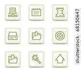 data web icons  white glossy... | Shutterstock .eps vector #68150647