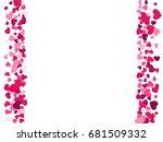 heart border vector background... | Shutterstock .eps vector #681509332