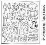 hand drawing back to school... | Shutterstock .eps vector #681512602