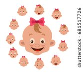baby facial expression isolated ... | Shutterstock . vector #681517726
