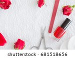cares about hands or feet nails.... | Shutterstock . vector #681518656