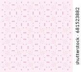 swirl doodle heart shaped... | Shutterstock .eps vector #681523882