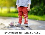 close up photo of little kid... | Shutterstock . vector #681527152