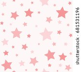 seamless sweet mood tone star... | Shutterstock .eps vector #681531196