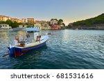 a boat in assos bay   in... | Shutterstock . vector #681531616