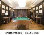 luxurry billiards room | Shutterstock . vector #68153458