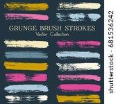 paint dabs  brushstroke... | Shutterstock .eps vector #681536242