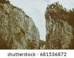 beautiful mountain gorge | Shutterstock . vector #681536872