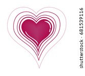 heart with vibration vector... | Shutterstock .eps vector #681539116