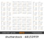 set of four simple calendar... | Shutterstock .eps vector #68153959