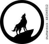 the vector logo wolf for t... | Shutterstock .eps vector #681545512