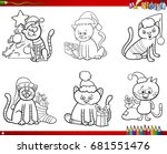 coloring book cartoon... | Shutterstock . vector #681551476